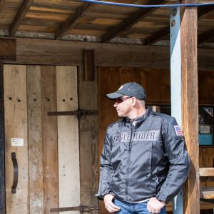 Mens EagleRider Cordura and Leather Armored Riding Jacket