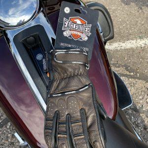 EagleRider Dark Brown and Black Leather Glove